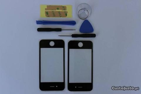 Vidro IPHONE 4 / 4s Preto ou Branco