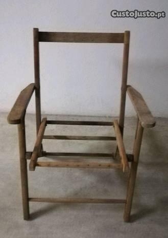 Cadeira tipo realizador p/ restaurar