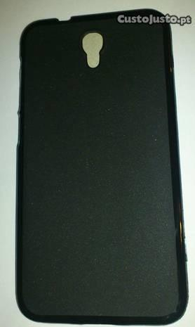 Alcatel Idol 2 - capa silicone preta