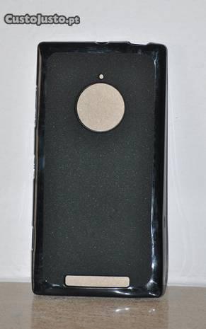 Lumia 830 - capa silicone preta
