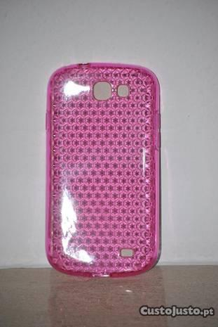 Samsung Galaxy Express - capa silicone rosa
