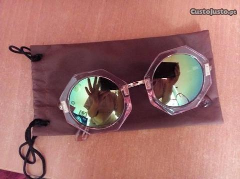 Óculos Espelhados Super Fashion Novos da0a198875