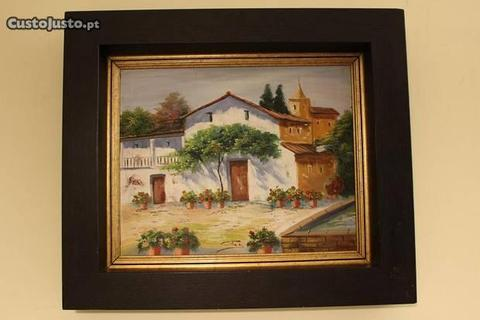 CORTEZ Pintura a óleo sobre tela Casas campestres