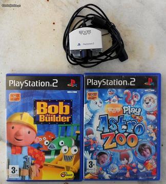 Jogos Infantis Eye Toy Playstation 2 (PS2) + Câmar