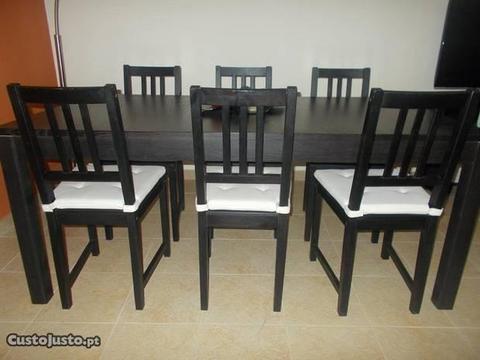 SALA COMPLETA- Sofá, Mesa, Cadeiras, Aparador, Etc