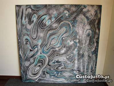 Grande Quadro / Tela / Pintura Abstrata 150x150cm