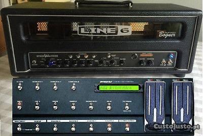Line6 Hd100 MkII Válvulas c/ longboard pedal