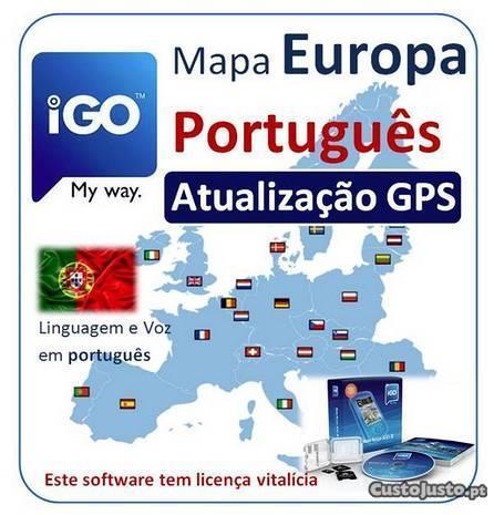Software GPS Mapa Europa em Português WinCE5/6