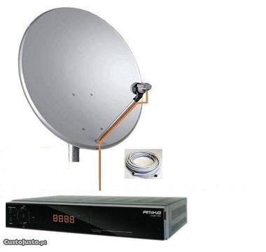 Kit recepção sinal tv por satelite